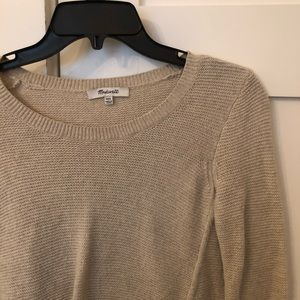 Madewell tan sweater!
